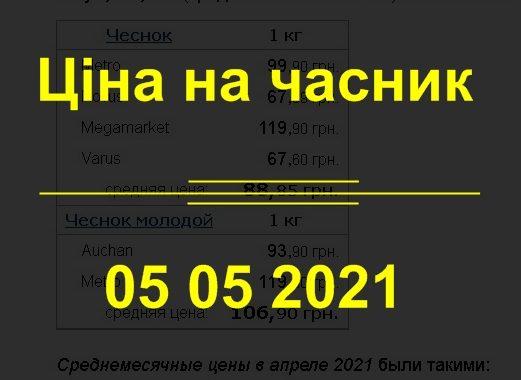 Ціна на часник 05.05.2021